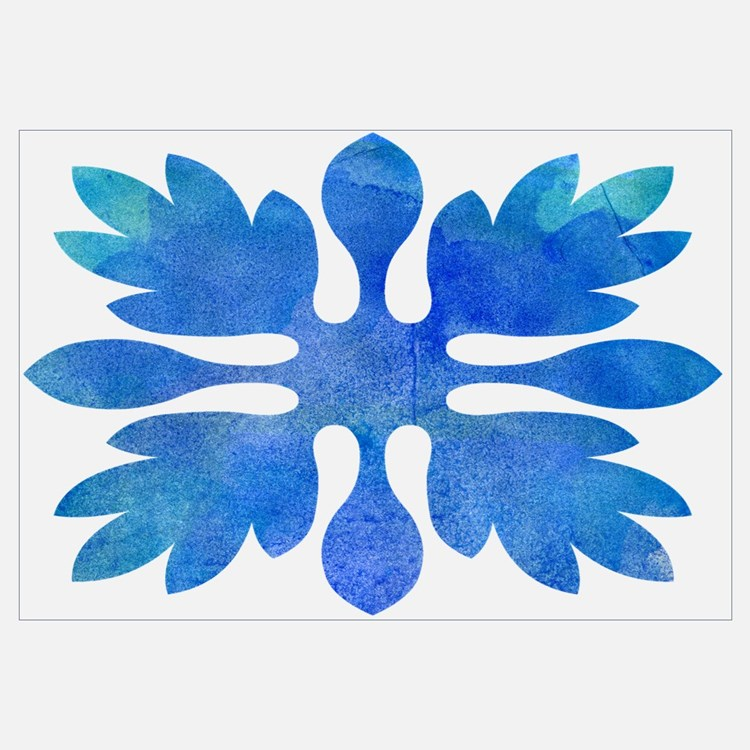 Cute Hawaiian quilt Wall Art