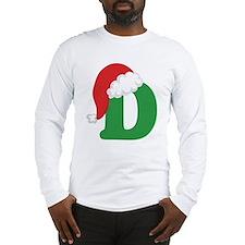 Cool Christmas letter a alphabet womens Long Sleeve T-Shirt