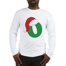 Cute Christmas letter a alphabet womens Long Sleeve T-Shirt