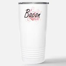 Bacon surname artistic Travel Mug