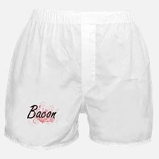 Bacon surname artistic design with Fl Boxer Shorts