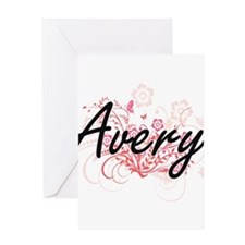 Avery surname artistic design with Greeting Cards