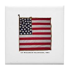 National color, 1st Wisc, 90- Tile Coaster