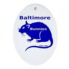 Balt Bunnies Ornament (Oval)