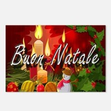 Merry Christmas-Buon Natale Postcards (Package of
