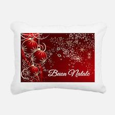 Buon Natale Rectangular Canvas Pillow