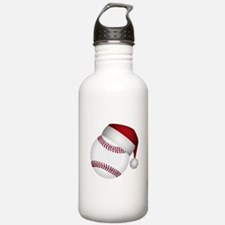 Christmas Baseball Water Bottle