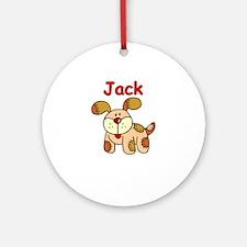 Jack Puppy Ornament (Round)