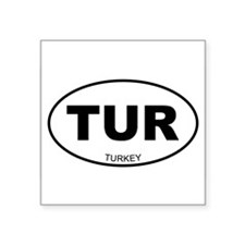 "Cute Turkish Square Sticker 3"" x 3"""