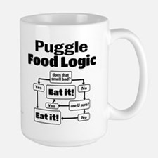 Puggle Food Large Mug
