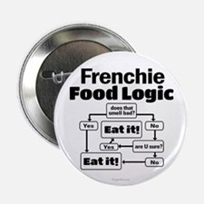 """Frenchie Food 2.25"""" Button"""