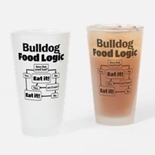 Bulldog Food Drinking Glass