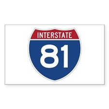 Interstate 81 Rectangle Decal
