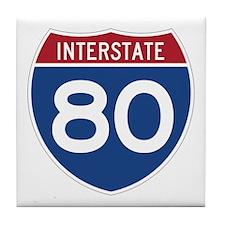 Interstate 80 Tile Coaster