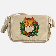 Christmas Wreath Messenger Bag