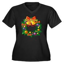 Christmas Wr Women's Plus Size V-Neck Dark T-Shirt