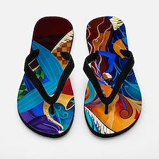 Juleez Music Art Decor Painting Musicia Flip Flops