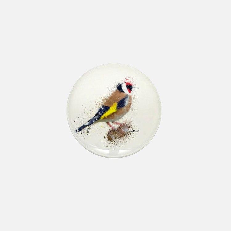 Gold Finch Mini Button