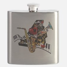 Piano Sax Trumpet Musical Instruments Juleez Flask
