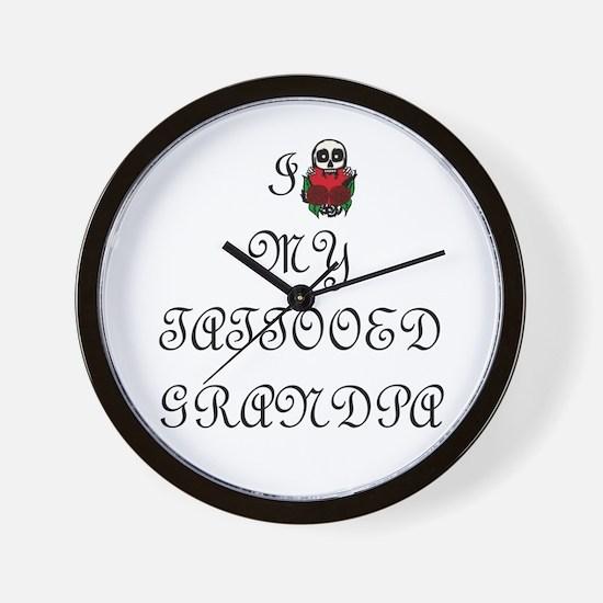 I Love My Tattooed Grandpa Wall Clock