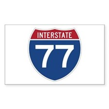 Interstate 77 Rectangle Decal