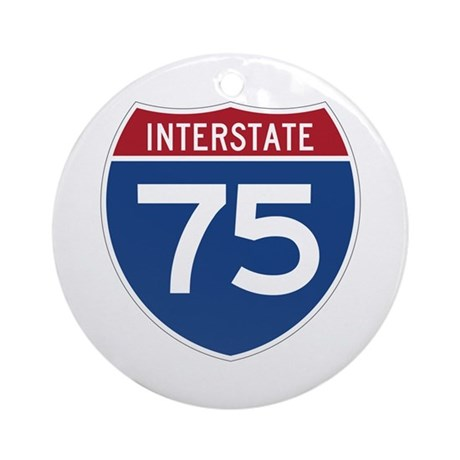 Interstate 75 Ornament (Round)