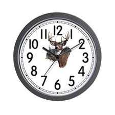 White Tail Deer Wall Clock