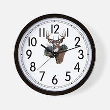 White Tail Deer Wall Clock