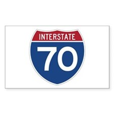 Interstate 70 Rectangle Decal