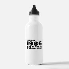 Born in 1986 - 30 Year Water Bottle