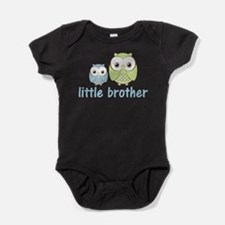Cute Happy owl little brother Baby Bodysuit