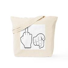 Middle Finger(Fr) FU(Back) Tote Bag