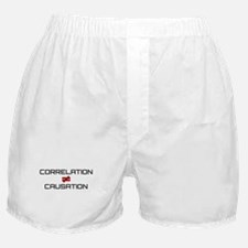 correlation does not imply causation Boxer Shorts