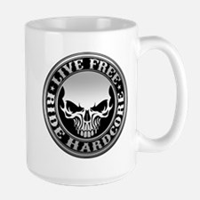 Live Free Ride Hardcore Large Mug Mugs