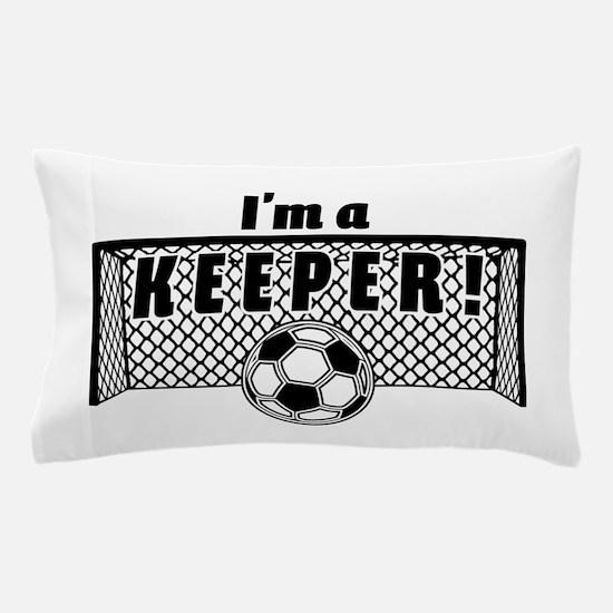 Im a Keeper soccer fancy black.png Pillow Case