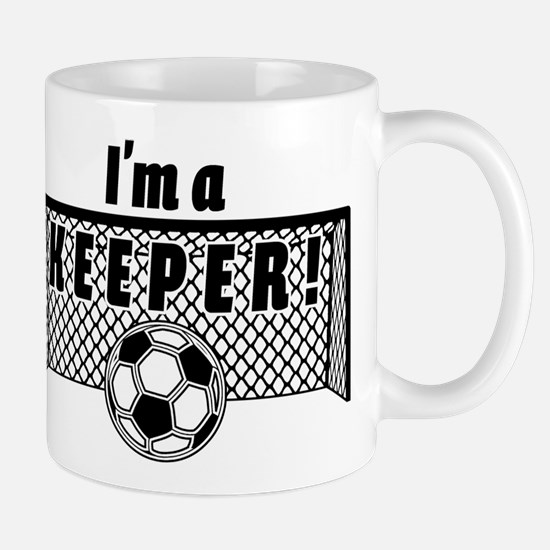 Im a Keeper soccer fancy black Mugs