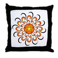 The Sunshine Pentacle Throw Pillow