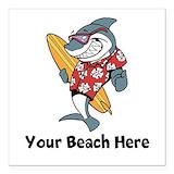 Beach Square Car Magnets