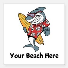 "Personalize Shark Square Car Magnet 3"" x 3"""