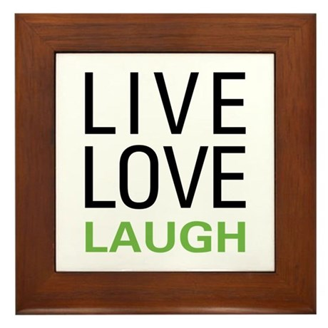 Live Love Laugh Framed Tile