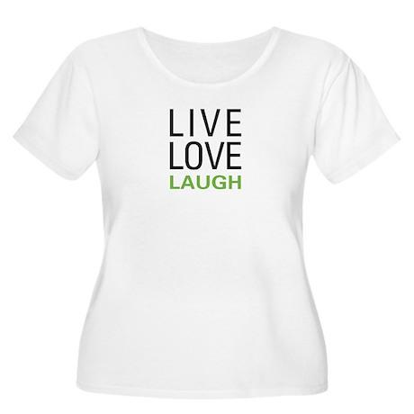 Live Love Laugh Women's Plus Size Scoop Neck T-Shi
