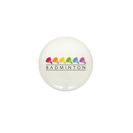 Rainbow Badminton Mini Button (100 pack)