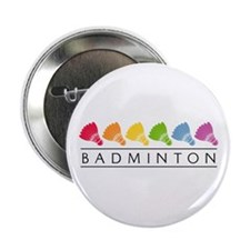 Rainbow Badminton Button