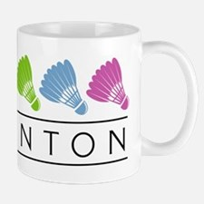 Rainbow Badminton Mug