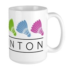 Rainbow Badminton Mug