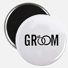 "groom 2.25"" Magnet (10 pack)"