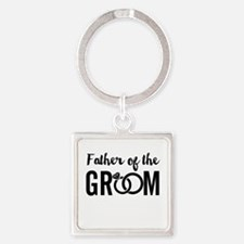 Father of the Groom Square Keychain