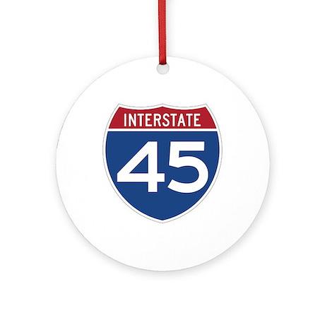 Interstate 45 Ornament (Round)