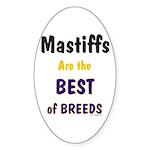 Mastiff Dog Best Of Breeds Oval Sticker