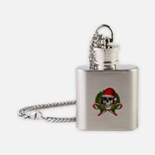 Christmas Skull Flask Necklace